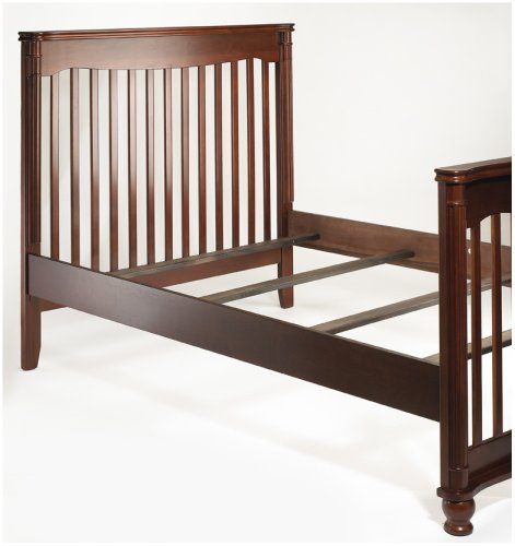 Sorelle adult bed rails and slats cherry furniture baby for Cradle bed for adults