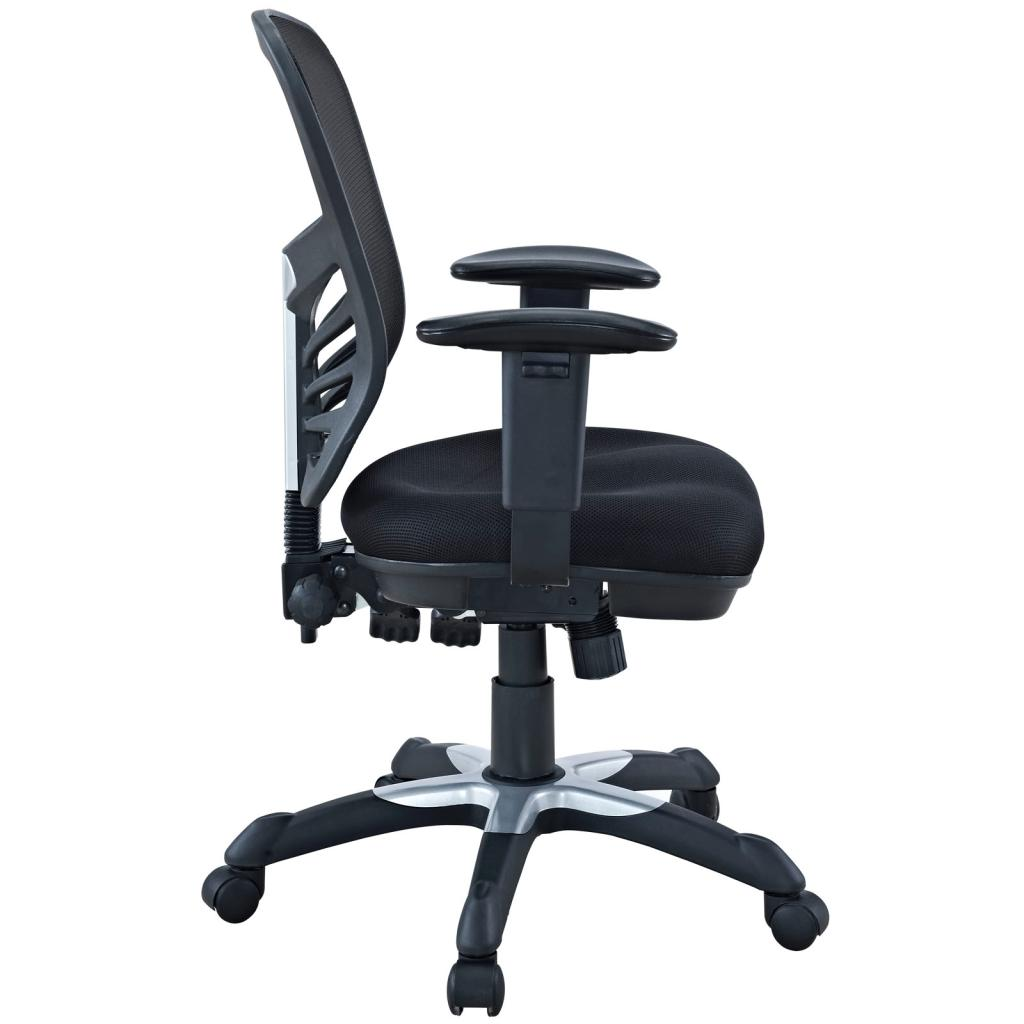 Lexmod Articulate Black Mesh Office Chair
