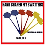6x Hand Shaped Fly Wasp Insect Bug Swat Swatter Killer