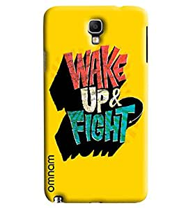 Omnam Wake Up Right Printed Designer Back Cover Case For Samsung Galaxy Note 3 Neo