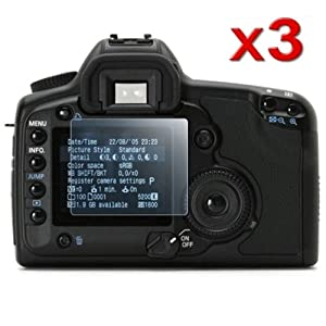 Best 3 Pack LCD Kit Reusable Screen Protector for Canon EOS 5D Mark II Best Price Today