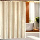 Eforgift 72- Inch by 86- Inch Continental Waterproof Heavy Duty Polyester Shower Curtain Beige Solid Extra long