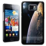 Fancy A Snuggle Earth As Seen From Space With Sun Design Hard Case Clip On Back Cover for Samsung Galaxy S2 i9100