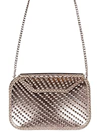 Urban Stitch Handmade Metal Casual, Evening Clutch Cum Sling Bag