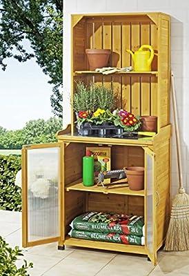 Gartenschrank mit Regalaufsatz von Merschbrock Trade GmbH auf Gartenmöbel von Du und Dein Garten