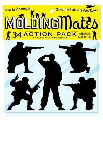 Molding Mates Action Pack Military, Karate, Ninjas 34 Molding Mates Home Decor Peel And Stick Vinyl Wall Decal Stickers