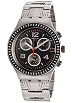 Swatch Irony Offset Black Dial Chronograph Stainless Steel Mens Watch YCS576G
