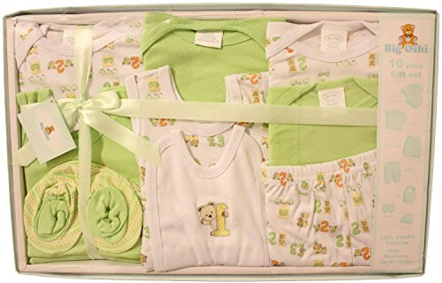 Big Oshi Baby 10 Piece Layette Gift Set - Green