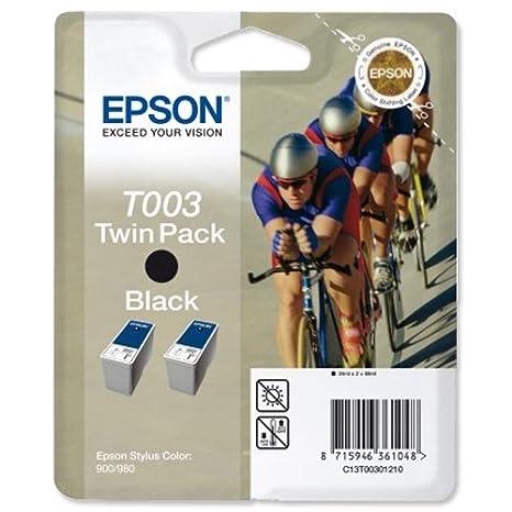 Epson T0030 Double Pack Cartouche d'encre d'origine Noir pour Stylus Color 900 980