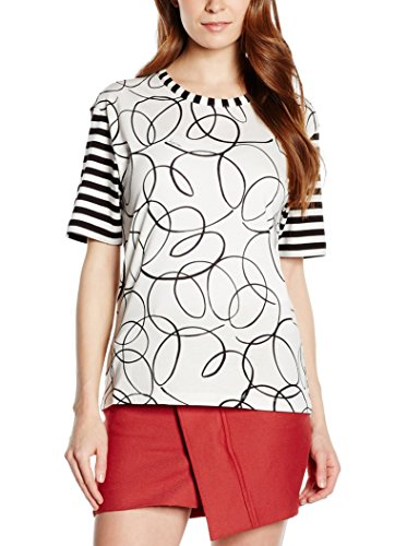 See by Chloé M/C, Maglia Donna, 0017 Scribble/White, 40