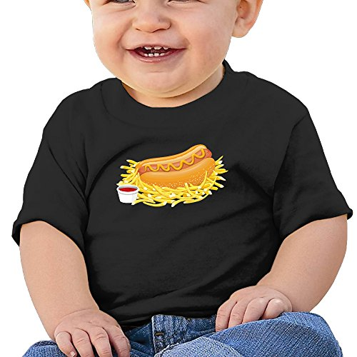 ULEANDY Hot Dog With Ketchup Infants &Toddlers Baby's Tshirts 18 Months