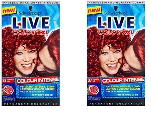 by schwarzkopf 2 x schwarzkopf color XXL 37 hypnotic red hair colorant dye