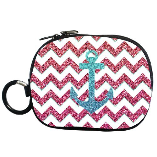 Generic Personalized Anchor And Chevron Pattern For Coin Purse (Two Side)