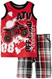 Little Rebels Boys 2-7 2 Piece Atv Short Set