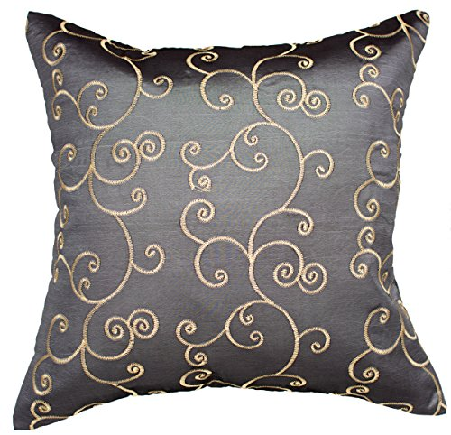 avarada solid spiral throw pillow cover decorative sofa couch cushion cover zippered 16x16 inch. Black Bedroom Furniture Sets. Home Design Ideas