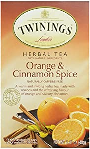Twinings Orange and Cinnamon Spice Herbal Teabags, 20 Count from AmazonUs/TWAC9