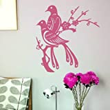 Pair Of Birds On Branch Wall Sticker / Large Removable Bird Wall Transfer BI3