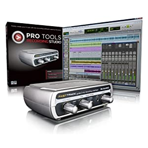 51w4T3KqODL. SL500 AA300  M Audio (82501000951) Pro Tools Recording Studio Software + USB Audio Interface   $75