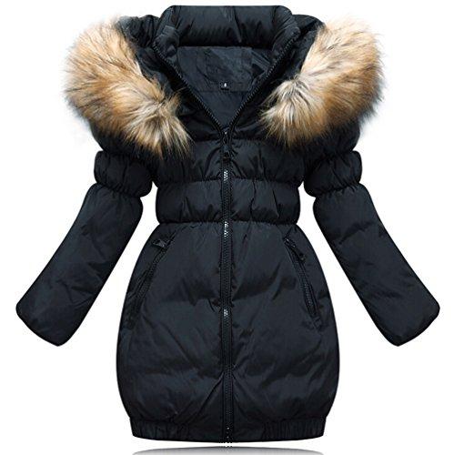 Brinny-Daunenjacke-Kinder-Mdchen-Winterjacke-Fellkapuze-Verdickung-Lang-Jacket-Wintermantel-Mantel-Trenchcoat-Parka-Outerwear-Oberbekleidung-Winter-Kunst-Pelz