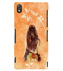 PRINTSWAG GIRL Designer Back Cover Case for SONY XPERIA Z3