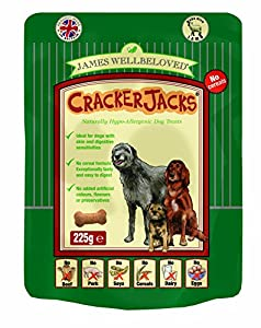 James Wellbeloved Crackerjacks Dog Treats Cereal Free Lamb 225 g