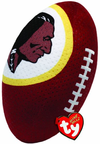 Ty Beanie Ballz NFL RZ Washington Redskins Football Plush - 1