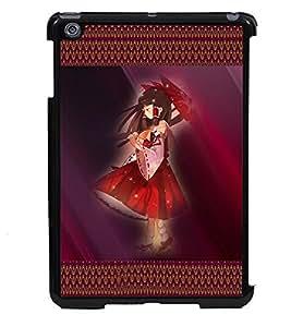 PRINTVISA Pattern Red Girl Premium Metallic Insert Back Case Cover for Apple IPad Mini - D5735