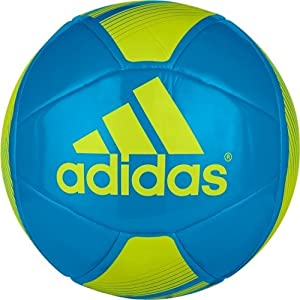 adidas Performance EPP Glider Soccer Ball, Solar Blue/Semi Solar Yellow, Size 5