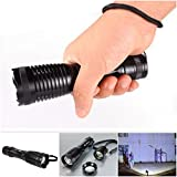 Unequaled Popular 2000Lm LED 5 Modes Flashlight Zoomable Torch Adjust Focus Water Resistence Color Black