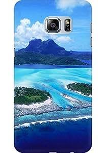 AMEZ designer printed 3d premium high quality back case cover for Samsung Galaxy S6 Edge Plus (beach design)