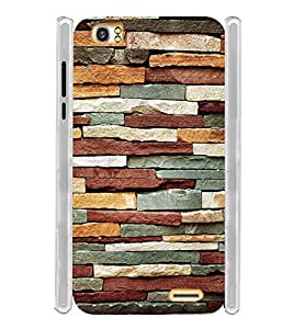 Rock Wall Pattern Soft Silicon Rubberized Back Case Cover for Lava Pixel V2
