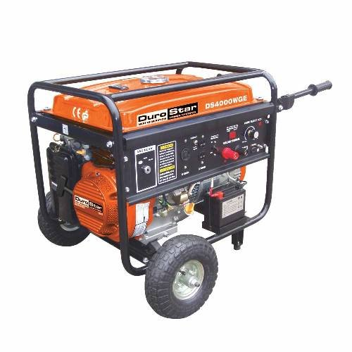 Durostar Ds4000Wge 4,000 Watt Gas Powered Portable Generator With Electric Start And 210 Amp Electric Welder Combo