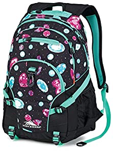 High Sierra Loop Backpack (19 x 13.5 x 8.5-Inch, Bejeweled/Black/Aqua)