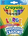 Crayola Washable Crayons, Large, 8 Co...
