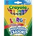 Crayola Large Washable Crayons-8/Pkg