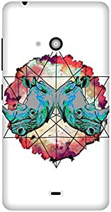 The Racoon Grip printed designer hard back mobile phone case cover for Microsoft Lumia 540. (Horny Diam)