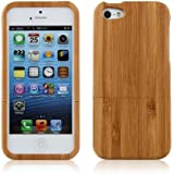FACILLA® Natural Bamboo Wooden Wood Back Hard Case Cover Skin for iPhone 5 [Electronics]