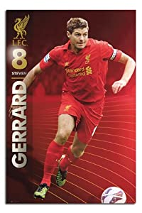 Liverpool Fc Steven Gerrard Season 1213 Poster - 915 X 61cms 36 X 24 Inches by iPosters