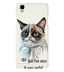 EPICCASE Grumpy cat Mobile Back Case Cover For Oppo F1 (Designer Case)