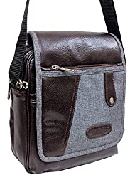 "10.5"" Stylish Faux Leather Messenger Office Bag By-Widnes"