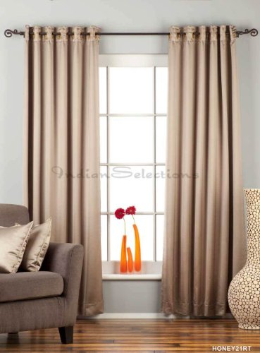 Brownish Gray Ring / Grommet Top 90% blackout Curtain / Drape / Panel – Piece