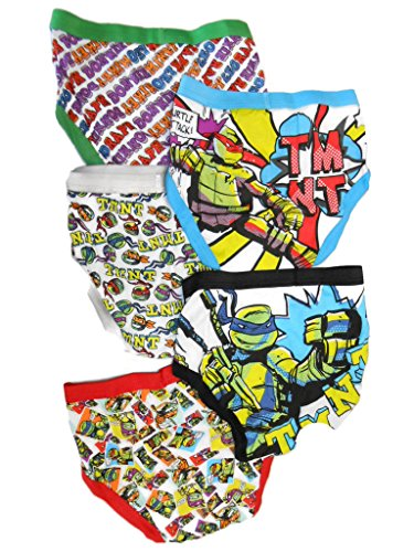 Nickelodeon Little Boys' Teenage Mutant Ninja Turtles Underwear, (Pack of 5)