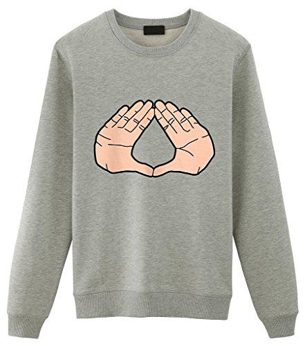 Fellow Friends - Jay Z Diamond Hand Unisex Sweater Small Grey