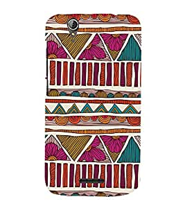 Abstract Pattern 3D Hard Polycarbonate Designer Back Case Cover for Acer Liquid Zade Z630 : Acer Liquid Zade Z630S
