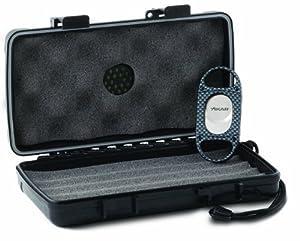 Xikar Travel Cigar Case and X8 Carbon Fiber Look Cigar Cutter Gift Set