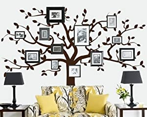 Family Tree Decal (Large Tree Decal - Frames and Photos not included) from Wall Decal Source