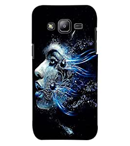 ColourCraft Creative Face Design Back Case Cover for SAMSUNG GALAXY J2 DUOS