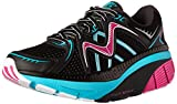 MBT Women's Zee 16 Running Shoe, Black/Fuchsia/Powder Blue, 7 M US