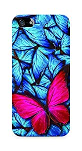 Amez designer printed 3d premium high quality back case cover for Apple iPhone SE (Beautiful lot of different butterflys)