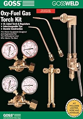 Goss KA-825-M 825 Series Oxy-Acetylene Welding, Brazing and Cutting Kit with MC Acet Regulator